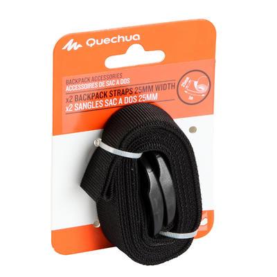 Set of 2 tightening straps (25mm x 1m) for trekking backpacks