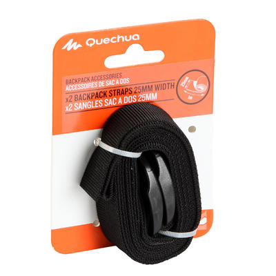Set of 2 tightening straps (25mm x 1m) for trekking backpacks