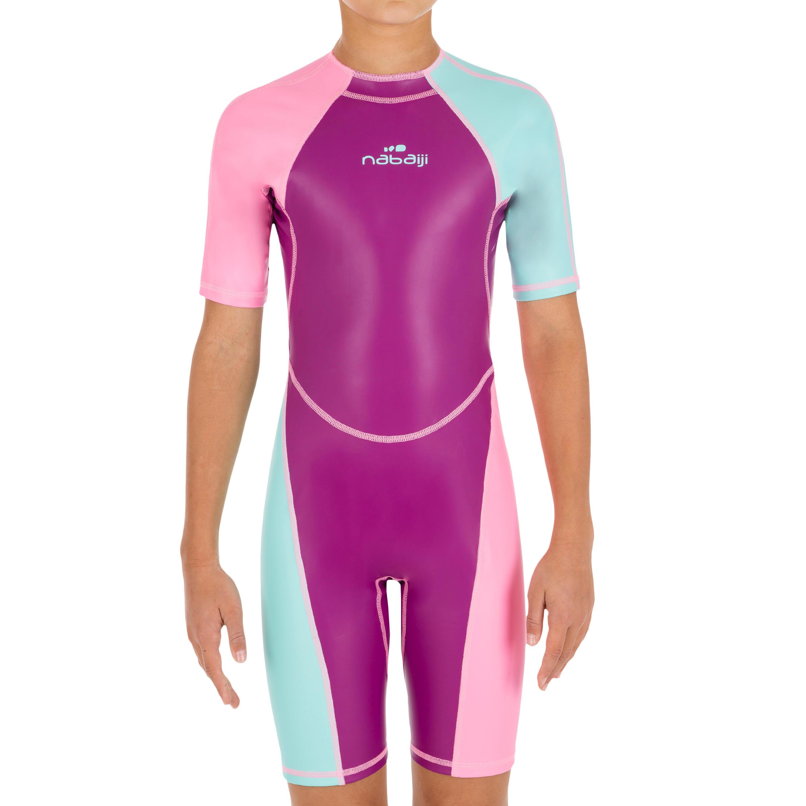 Mädchen,  Kinder Nabaiji Schwimmanzug Shorty Kloupi Mädchen violett rosa   03583788260769