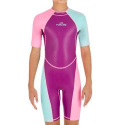 Shorty de natación niña kloupi violeta rosa
