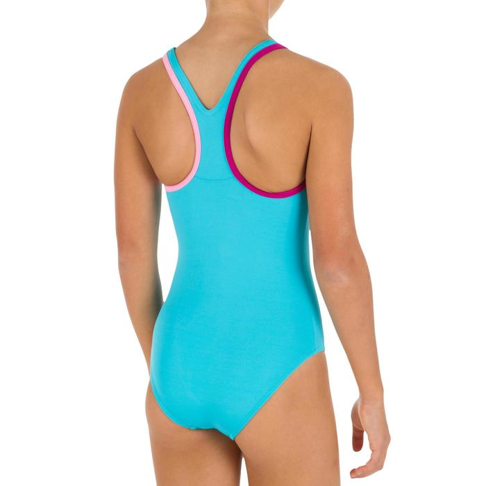 Maillot de bain de natation fille une pièce Leony + bleu violet andili
