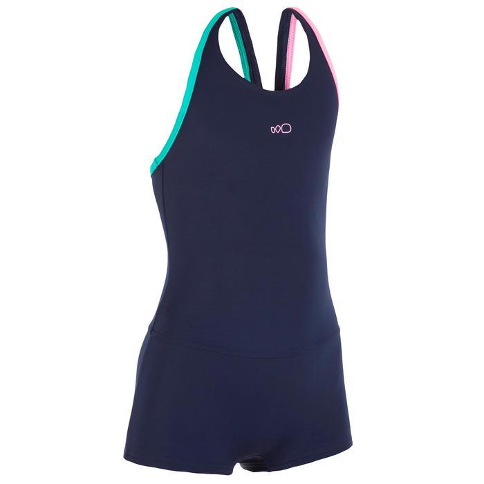 Shortybadpak Leony voor meisjes marineblauw