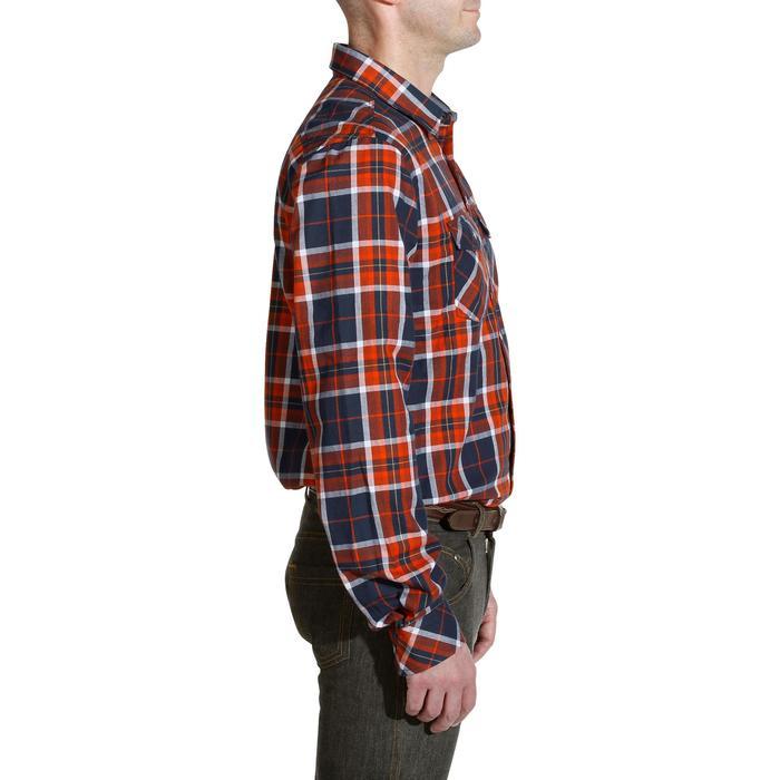Chemise manches longues à carreaux équitation homme SENTIER marine et rouge - 1137667