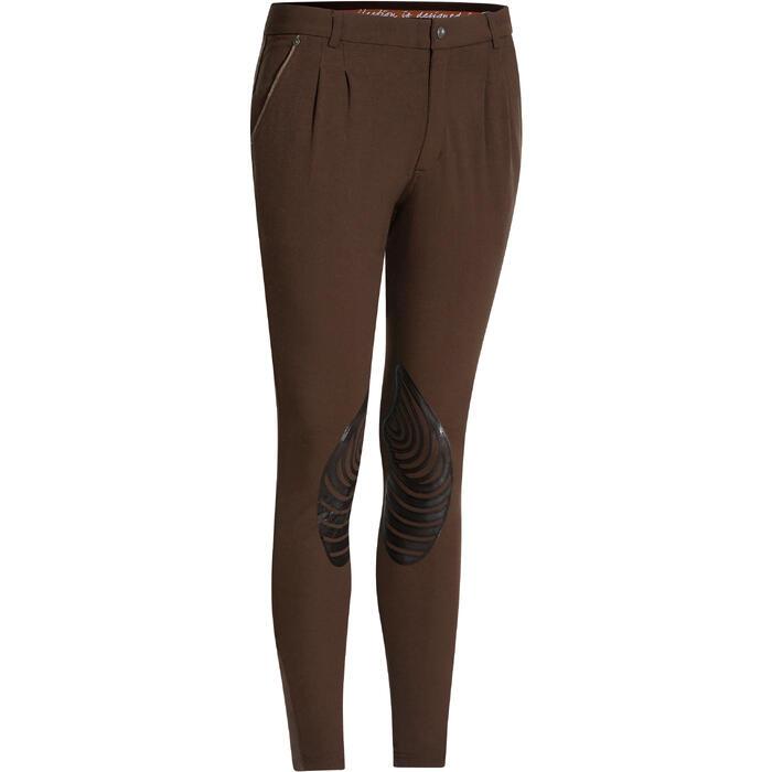 Pantalon équitation homme BR560 GRIP basanes silicone - 1137684