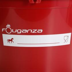 Cubo de cuadra rojo equitación