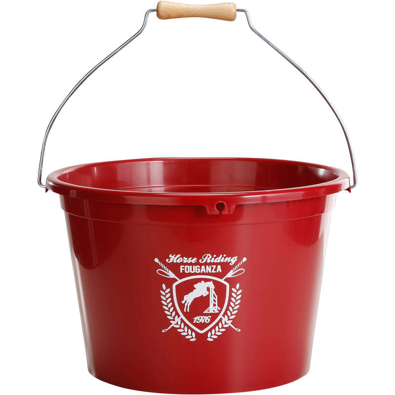 ACCESSORI SCUDERIA Equitazione - Secchio da scuderia BASIC rosso FOUGANZA - Scuderia e Paddock