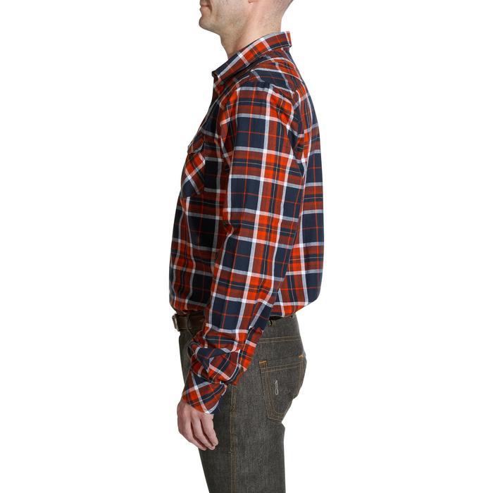 Chemise manches longues à carreaux équitation homme SENTIER marine et rouge - 1137732