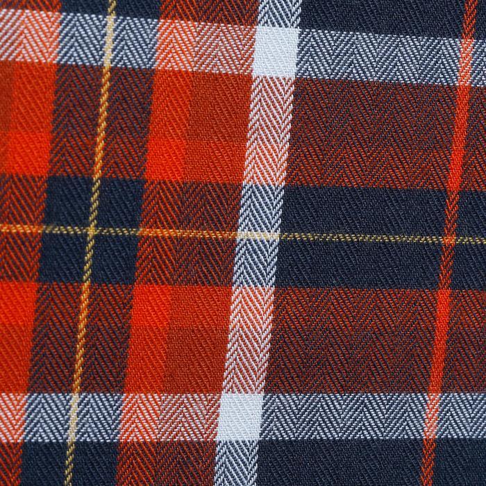 Chemise manches longues à carreaux équitation homme SENTIER marine et rouge - 1137756