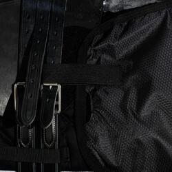Oefendeken Allweather ruitersport zwart - maat paard en pony - 1137794