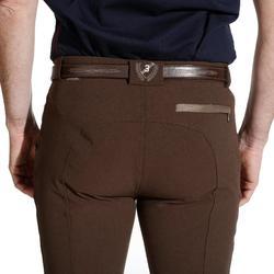 Pantalon équitation homme BR560 GRIP basanes silicone marron