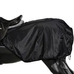 Oefendeken Allweather ruitersport zwart - maat paard en pony - 1137812