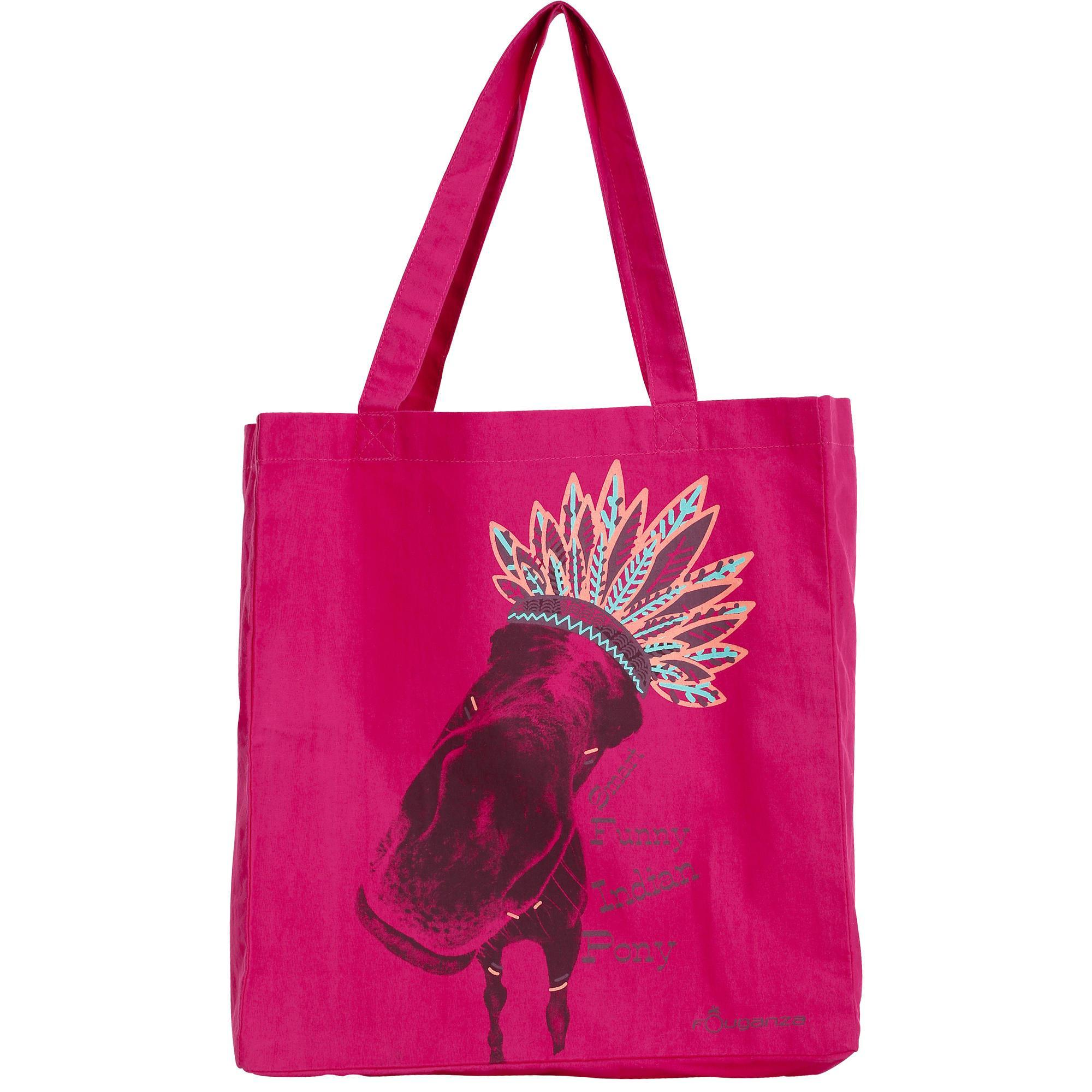 Fin De Serie -17% - Sac Pansage Coton Indian Rose- Fouganza Rose qdT8D