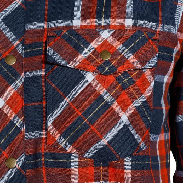 Ruitjeshemd met lange mouwen voor heren ruitersport Sentier marineblauw/rood