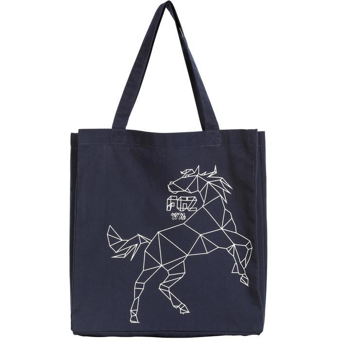 Bolsa de limpieza equitación de algodón HORSE azul marino
