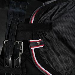 Oefendeken Allweather ruitersport zwart - maat paard en pony - 1137969