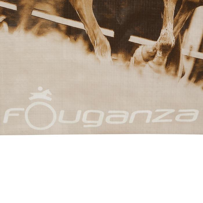 Sac cabas photo équitation gris et camel - 1137979