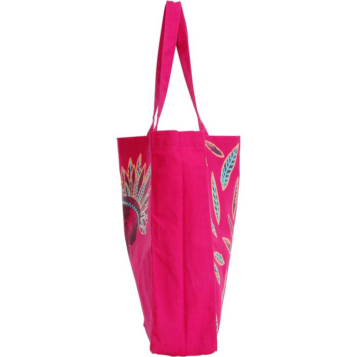 sac de pansage équitation en coton INDIAN rose
