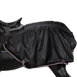 Oefendeken Allweather ruitersport zwart - maat paard en pony - 1137989