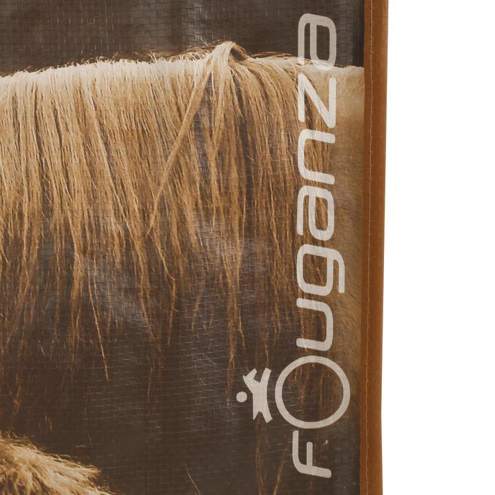 Tas met foto ruitersport grijs en camel