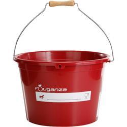 Cubo cuadra equitación rojo 17 L