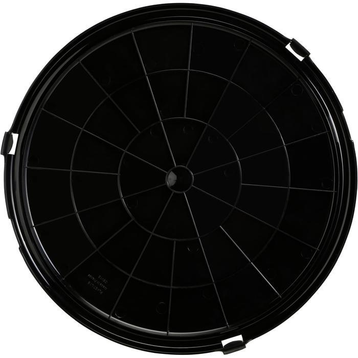 Deksel voor stalemmer zwart - 1138047