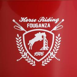 Seau d'écurie équitation rouge 17 L