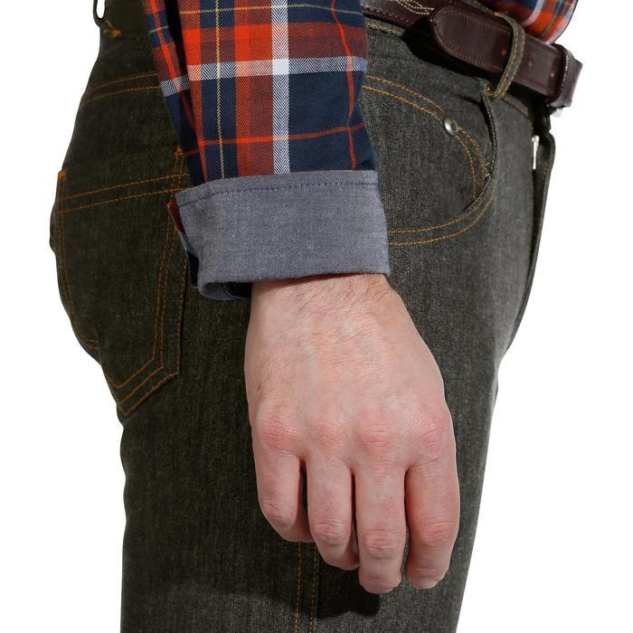 Chemise manches longues à carreaux équitation homme SENTIER marine et rouge - 1138053
