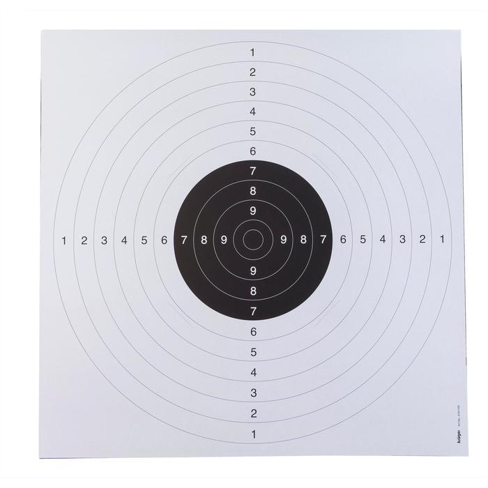 Set van 20 schietschijven voor luchtdrukpistool 55 x 53 cm