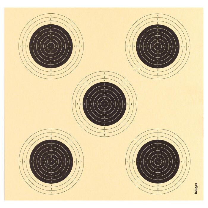 5-in-1 schietkaart voor luchtdrukpistool x100