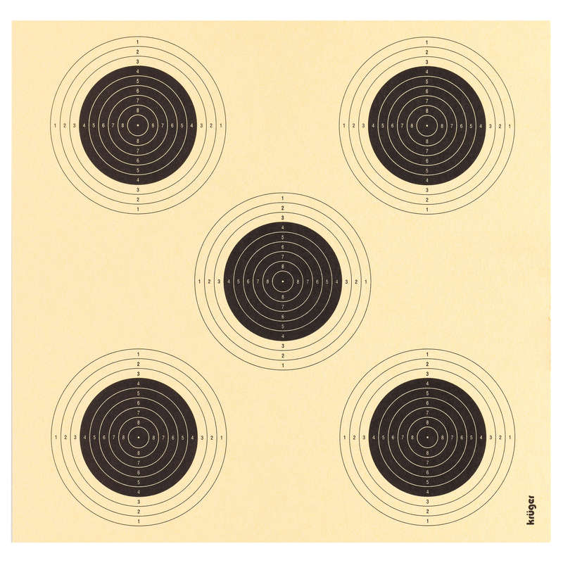 AIR RIFLE LEAD SHOT/TARGETS/SCOPES Shooting and Hunting - 5-in-1 Air Gun Target KRUGER DRUCK PLUS VE - Shooting and Hunting