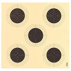 Zielscheibe Luftgewehrschießen 5 in 1/ 14x13,5 cm 100 Stück