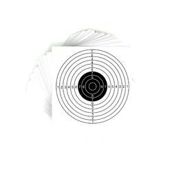 Schietschijf pistool 25m wit set van 20