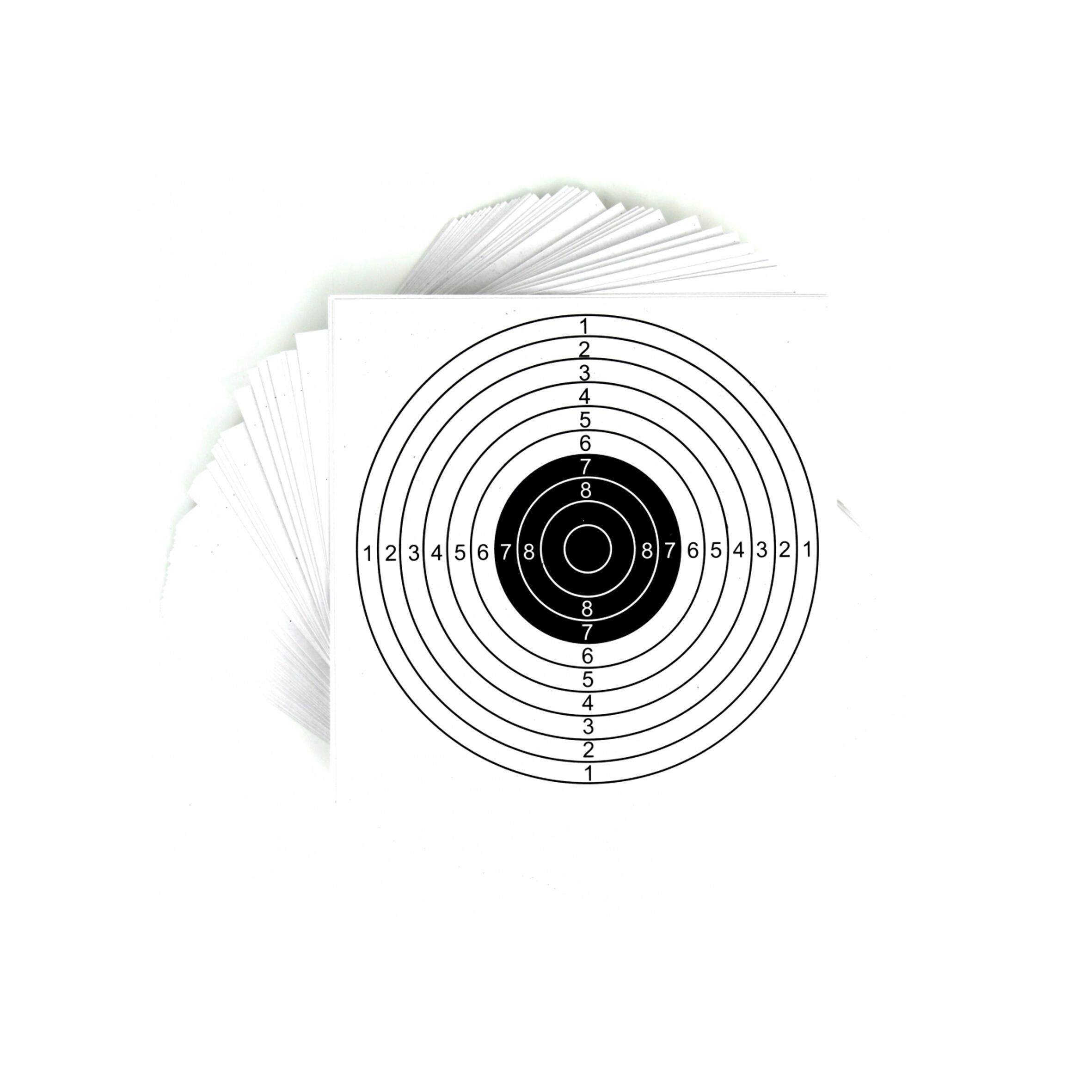 Ţintă Pistol 25 m x 20 Alb