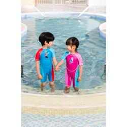 Kloupi Baby's Printed Shorty Swimsuit Pink Blue