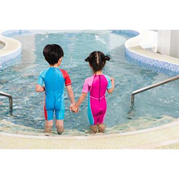 Kloupi Baby's Printed Shorty Swimsuit - Blue