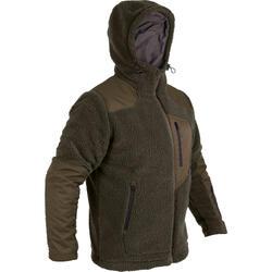 狩獵羊皮刷毛外套900-綠色