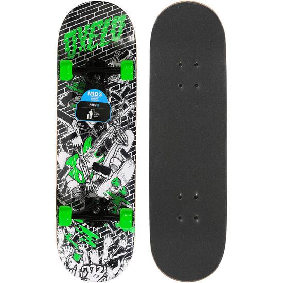 Skateboard voor kinderen Mid 3 Skull - 1138967