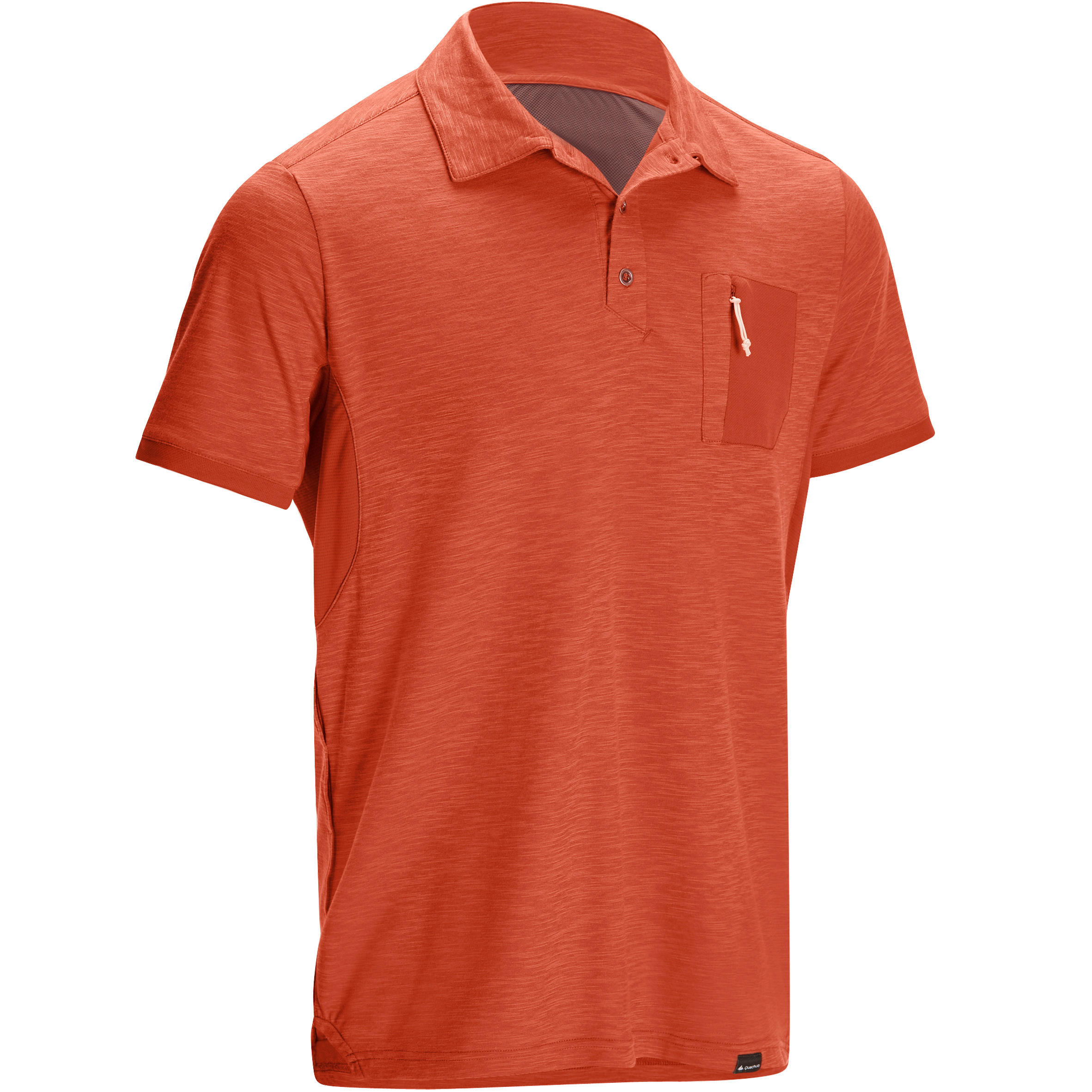 Arpenaz 500 Men's Hiking Short Sleeve Polo - Red
