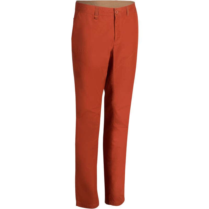 MEN NATURE HIKING PANTS Hiking - NH500 Men's Trousers - Brick QUECHUA - Hiking Clothes