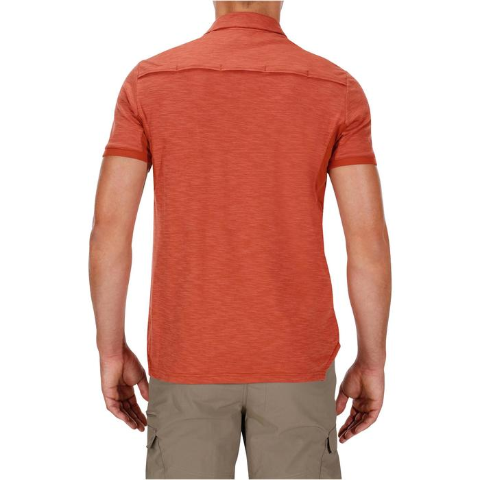 Polo manches courtes trekking TRAVEL 100 Homme rouge