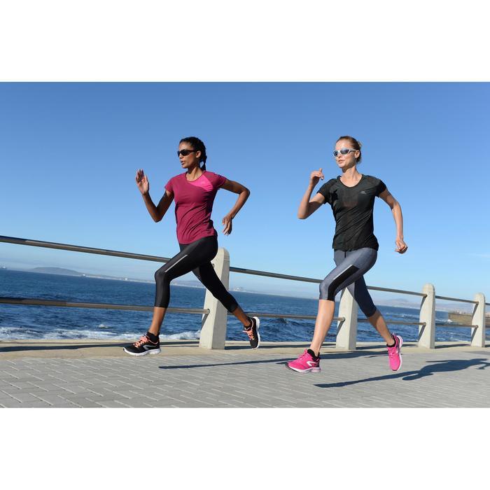 Hardloop zonnebril Runstyle grijs/paars categorie 3