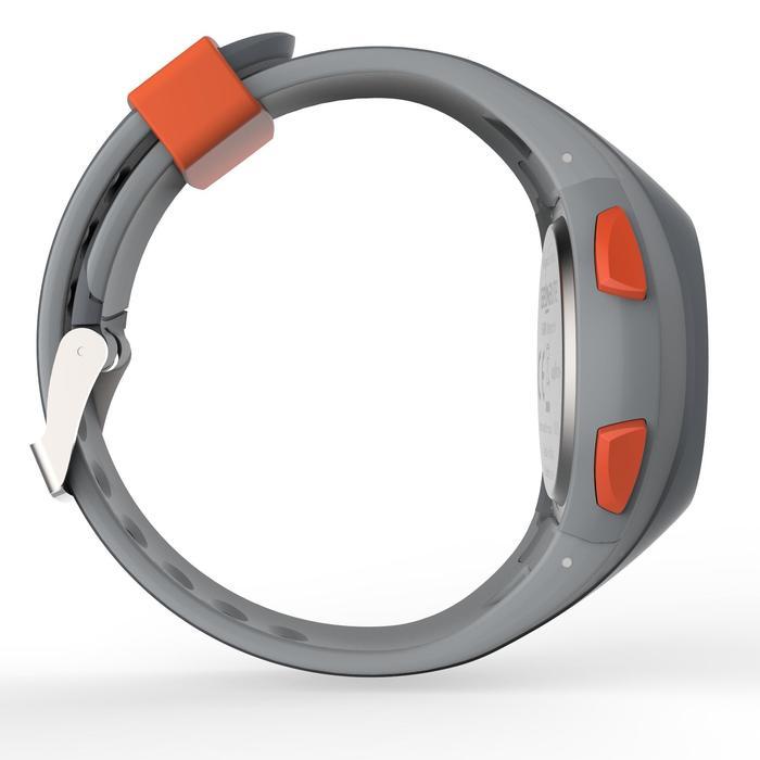 Reloj cronómetro running hombre W200 M gris y naranja