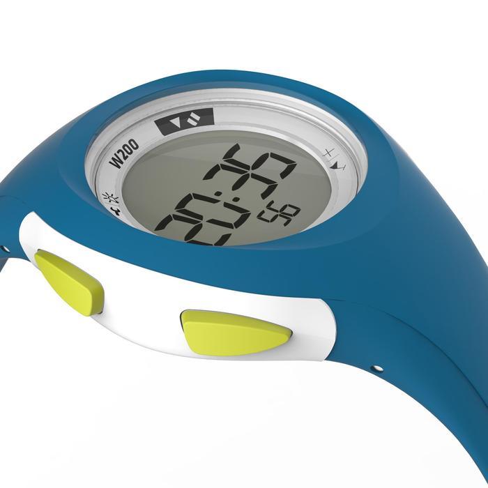 Reloj cronómetro de running mujer y junior W200 S cuenta atrás verde y violeta