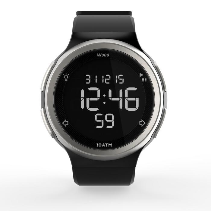 Montre chronomètre de course à pied homme W900 noire reverse - 1139455