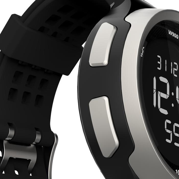 Montre chronomètre de course à pied homme W900 noire reverse - 1139465