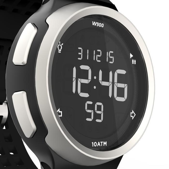 Montre chronomètre de course à pied homme W900 noire reverse - 1139468