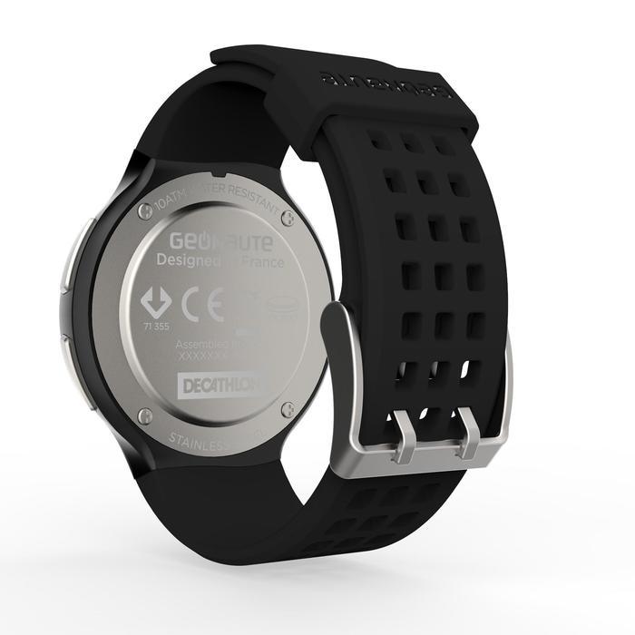 Montre chronomètre de course à pied homme W900 noire reverse - 1139470