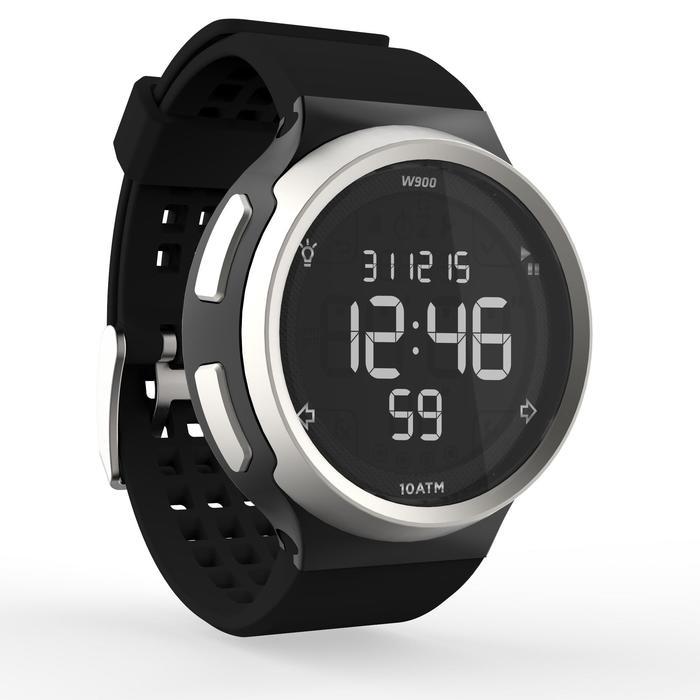 Montre chronomètre de course à pied homme W900 noire reverse - 1139477