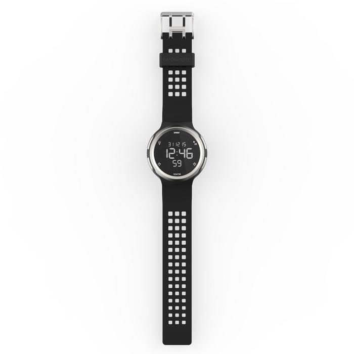 Montre chronomètre de course à pied homme W900 noire reverse - 1139479