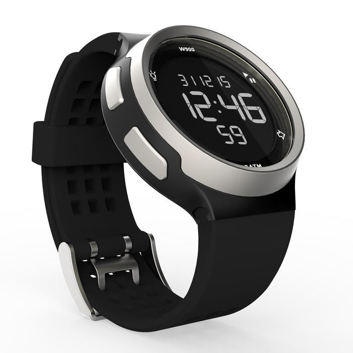 Montre chronomètre de course à pied homme W900 noire reverse - 1139493